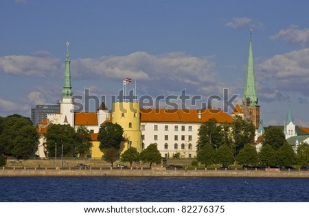 President of Latvia palace, located in Riga - stock photo