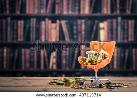 President of the chair and money - stock photo