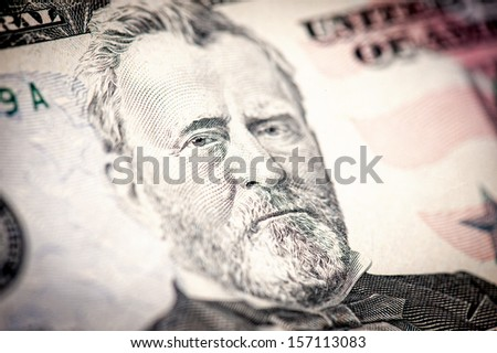 President Ulysses S. Grant from fifty dollar bill.