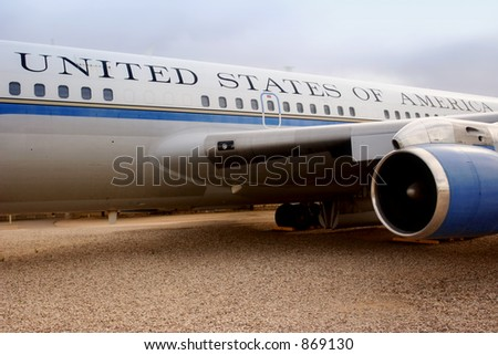Presidential Airforce One (exclusive at shutterstock) - stock photo