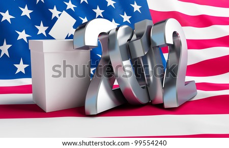 Presidential elections in the U.S.A on a white background - stock photo