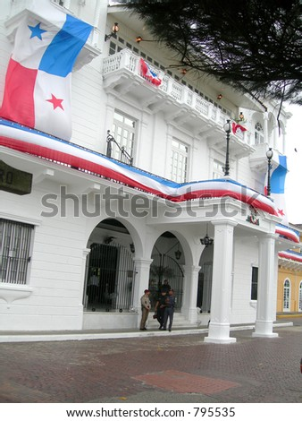 presidential palace panama city capital panama central america - stock photo