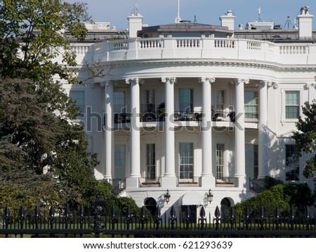 The White House Gmbh presidential white house washington dc usa stock photo 621293639