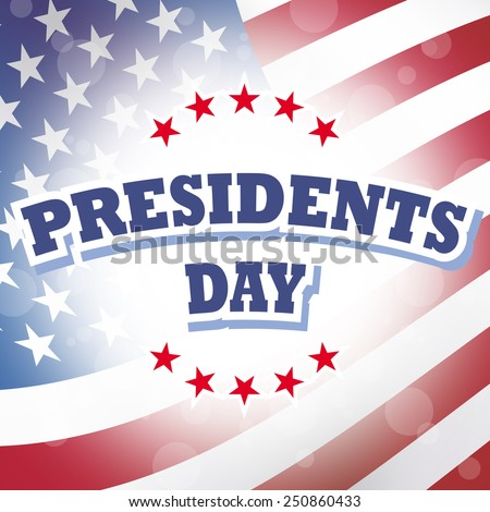 presidents day america holiday banner and sign illustration