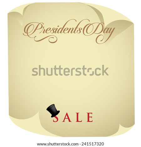 Presidents Day Sale Background stock illustration - stock photo