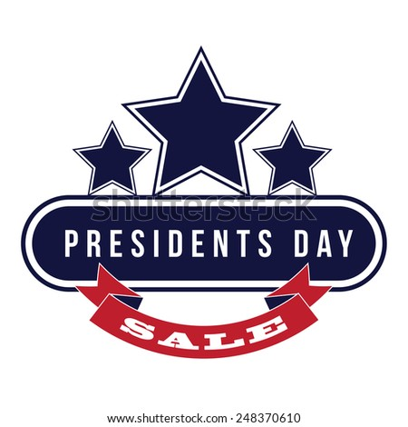 Presidents Day sale Icon Insignia royalty free stock illustration perfect for ads, posters, marketing, blog, website - stock photo