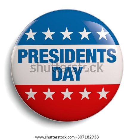 Presidents Day stock image graphic on white.