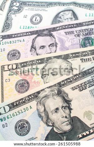 presidents on the dollar bill - stock photo