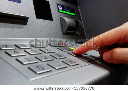 Press ATM EPP keyboard