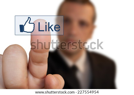 Press button - stock photo