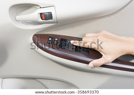 Press button inside door car