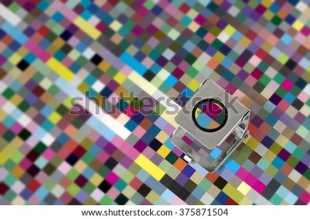 Press color management - print production control - stock photo