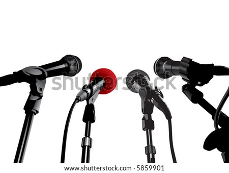 Press Conference (also available vector version of this image in our gallery)
