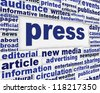 Press poster design. Publication message background - stock photo