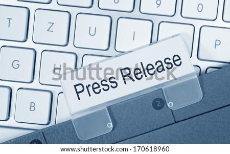 Press Release - stock photo