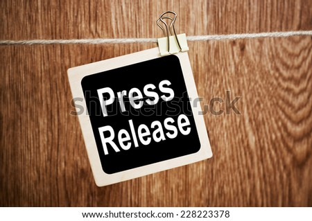 Press Release  - stock photo