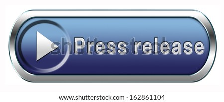 press release with breaking hot and latest news items button or icon - stock photo