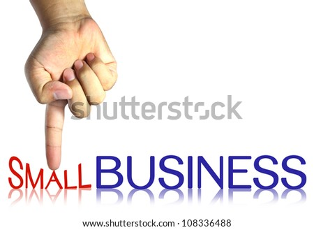 pressing small business , business concept, isolated - stock photo