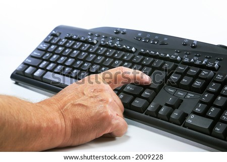 Pressing the Enter Key