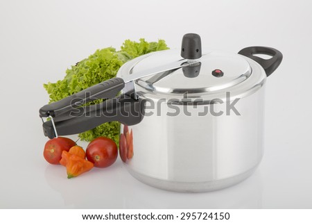 Pressure Cooker in a Kitchen setting - stock photo