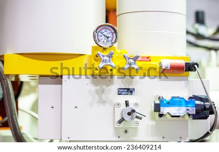 Pressure sensor in a Factory industrial line - stock photo