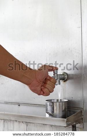 Pressure water - stock photo