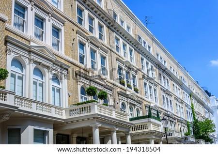 Prestige London Houses  - stock photo