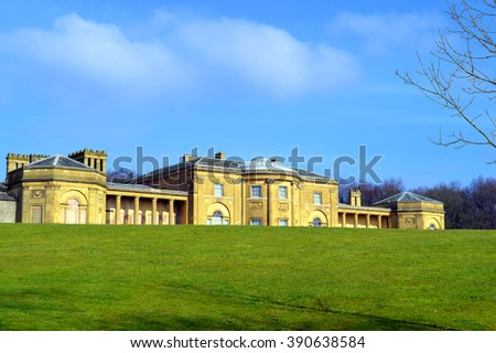 Prestwich, Manchester, England, UK - March 13, 2016 : The grade 1 listed building Heaton Hall in Manchester - stock photo