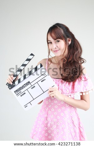 Asian Woman On Slate
