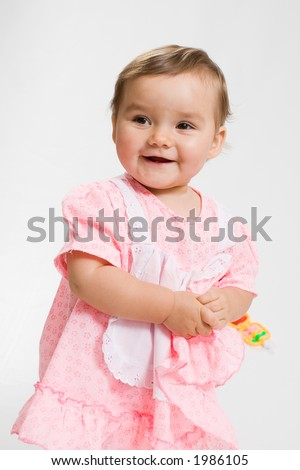 Pretty baby. Pretty baby on white background.