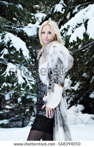 fur Beautiful blonde coat in