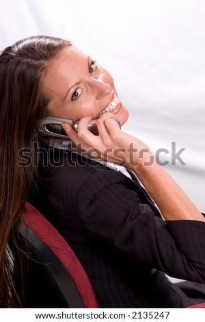 Pretty Businesswoman - stock photo