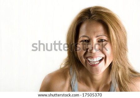 Pretty ethnic woman with an easy smile