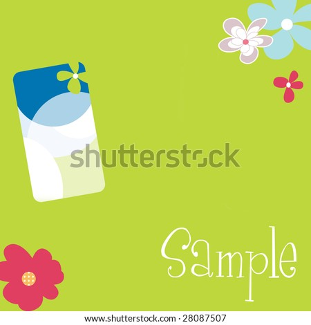 pretty floral stationary set with business card idea 2 - stock photo