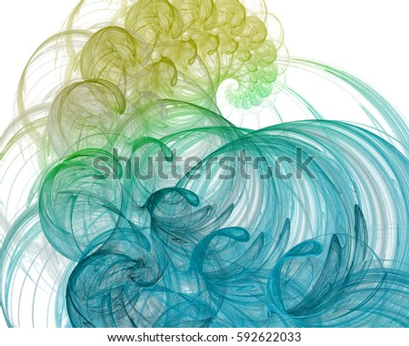 Pretty fractal spiral element for your design in marine theme.