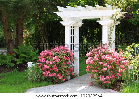 Garden Arbor Stock Images Royalty Free Images Amp Vectors