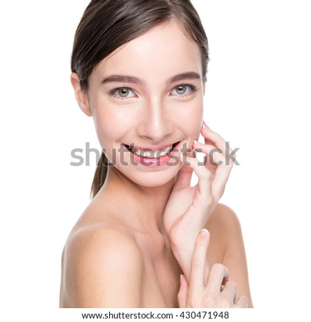 Pretty Girl Touching her Face
