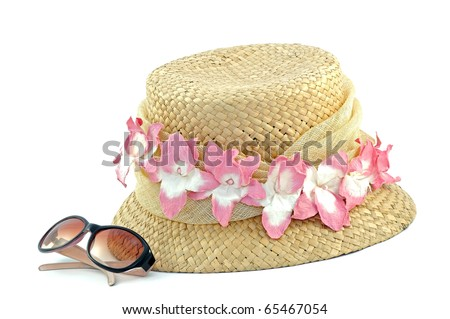 Pretty hat and pair of sunglasses