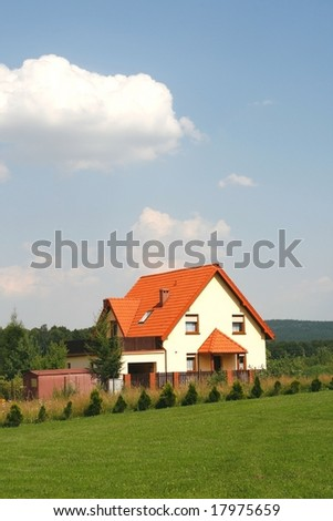 Pretty house in a small Polish village