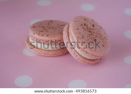 Pretty in pink cinnamon apple  french macarons