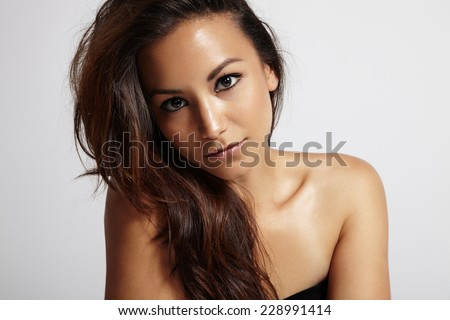 Beautiful latin woman stock images royalty free images vectors pretty latin woman with ideal skin and hair voltagebd Images
