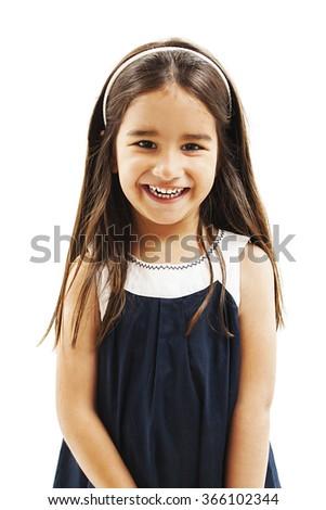 Pretty little girl.  - stock photo
