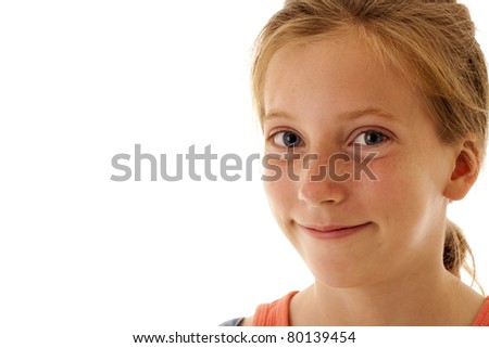 pretty little girl smiling - stock photo