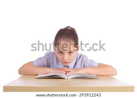 pretty little girl with the book