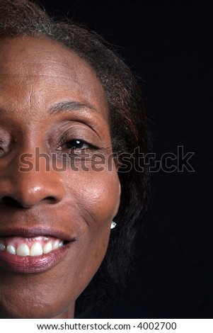 Pretty mature woman of African American