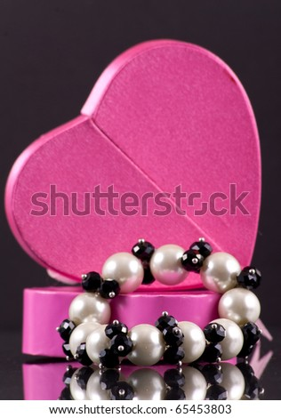 Pretty Pearl Bracelet Holiday Gift for Wife - stock photo