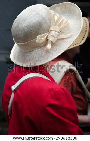 Pretty straw hat  - stock photo