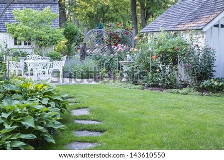 Pretty Summer Garden - stock photo