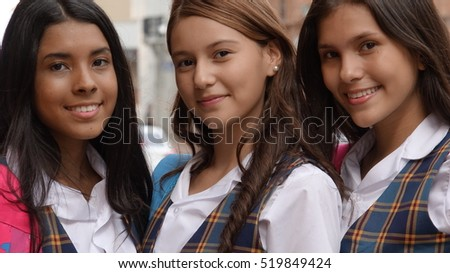 Pretty Teen Female Students