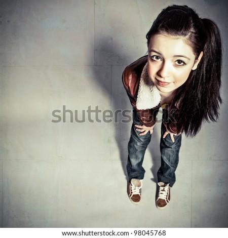 Pretty Teen Girl - stock photo